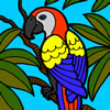 Beautiful Parrot Coloring